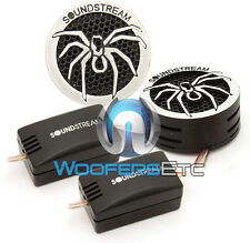 "SOUNDSTREAM TWT.5 CAR 1"" PEI SUPER TWEETERS & CROSSOVERS SURFACE ANGLE MOUNT NEW"