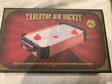 Mini Table Top Air Hockey Game AA Battery Operated Blower 2 Pucks Paddles Fun