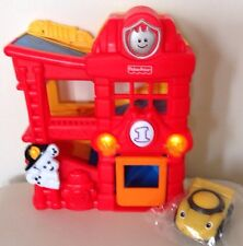 Mattel Fisher Price Lil Zoomers Rattle & Roll Fire Station House Lights Sounds
