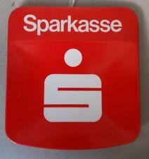 Werbe-Zahlteller Kunststoff Sparkasse rot