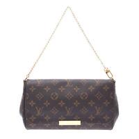 LOUIS VUITTON Monogram Favorit MM 2WAY bag Brown M40718 Bag 800000087796000