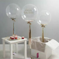 "10""-36"" Transparent Clear Balloons Birthday Wedding Party Decor NO Wrinkle RF"