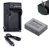 LP-E5 Battery For Canon EOS 450D 500D Rebel T1i XS XSi Kiss F X2 X3 & Charger