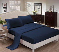 CC&DD-Bed Sheets Sets,100% Microfiber,Soft & Comfortable, Deep Pocket,Navy Blue