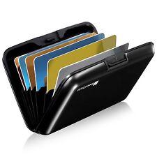 GreatShield [8 Slot] Compact Slim Aluminum RFID Card Holder Wallet Lock Case