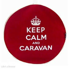 New Silver Keep Calm and Caravan Hitch Cover