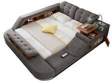 All-in-One Double Bed with Massage Speakers Storage Safe Perfect Relaxation