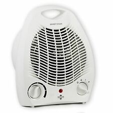 2kw 2000w Portable Electric Upright Adjustable Fan Heater Hot Cold Small
