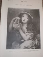 Girl with Doves by Greuze 1897 old print