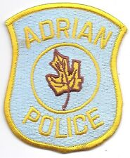 **ADRIAN MICHIGAN POLICE PATCH**