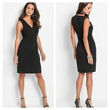 BPC @ Kaleidoscope Black Lacing Detail DRESS Size 10 Sexy Evening Party £49 New