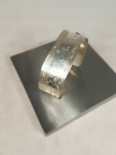 Sterling Silver Cuff Bracelet with Stamped Patterns -- Solid Silver