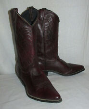Vntg Miss Rodeo USA Acme Black Cherry Leather Sz 8M Western CowBoy/Girl Boots
