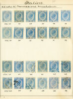 Italy Stamps Revenues 24x w/ Many Mint 1870's on Page