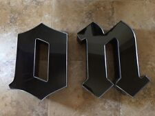 Vintage Black Gothic Font Sign Letters N O Wall Decor