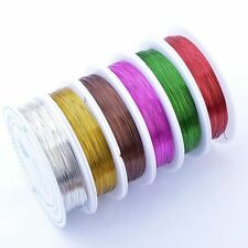 0.3mm 20meter Copper Wire Jewellery Tiara Beading Craft Making Wrapping 10Colour