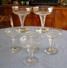French Baccarat Champenoises Cristal Cups 19th C Set of 06