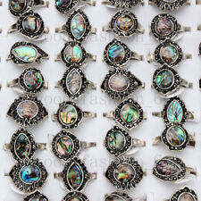 Natural Abalone Shell Rings 20pcs/lot Wholesale Women's Rings Mixed Size