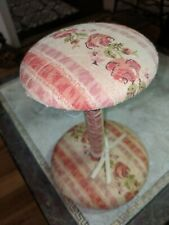 Vintage Fabric Pink Roses Shabby Chic Hat Stand
