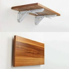 2Pcs Triangle Folding Bracket Adjustable Wall Mounted Table Shelf Heavy Duty