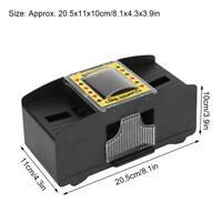 Kartenmischer 2 Decks Poker elektrische Kartenmischmaschine Karten-Shuffler
