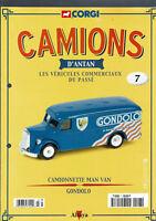 FASCICULE ALTAYA CORGI CAMIONS D'ANTAN  N°7  CAMIONNETTE MAN VAN GONDOLO