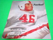 1947 HIGH SCHOOL FOOTBALL PROGRAM WICHITA KANSAS EAST HIGH VS NORTH COCA COLA AD