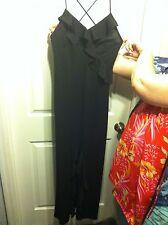 Womens/ Jr JUMP Brand  sz 3 4  XS long black dress RUFFLES Dinner Dressy