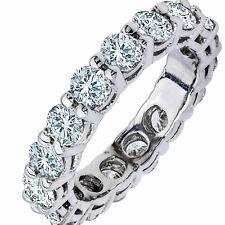4.60CT DIAMOND ETERNITY BAND WEDDING RING ROUND CUT NATURAL DIAMONDS 14K GOLD