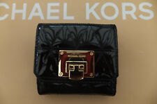 4f3f62730e96 Michael Kors Genuine Vivianne Black Quilted Trifold Leather Coin Purse