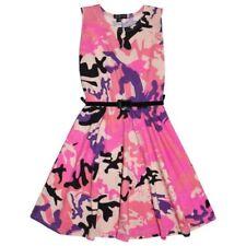 Robes rose pour fille de 2 à 16 ans en 100% coton taille 10 ans