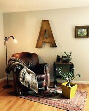 """Large Antique Neon Metal Letter """"A"""""""