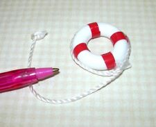 """Multi Minis 1"""" Scale Dollhouse Miniature 1 Inch Life Preserver Ring Red Mul4045r"""