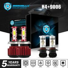 New listing H4 Led Headlight+H10/9006 Fog Drl Lights Bulb Kit High Low Beam 6500K High Power