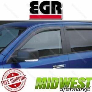 EGR Set of 4 Smoke In Channel Window Visors For 2009-2017 Dodge Ram 1500 CrewCab
