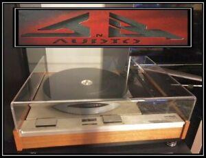 "Thorens TD 125 MK1 MKII MK2 HD 3/16"" JnB Audio Turntable Dust Cover -Made in USA"