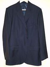 Polo Ralph Lauren Black Shadow Stripe 3 Btn Virgin 100 Wool Suit Sz. 43R - Italy
