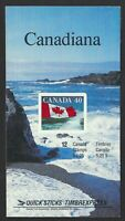 Canada BK127a: 12x40c Quick Stick Cliffs to the right Booklet, Scott 1193, VF-NH