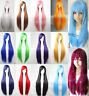 80cm Long Straight Wigs Fashion Women Cosplay Costume Anime Hair Party Full Wig