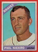 1966 Topps #28 Phil Niekro VG-VGEX+ Atlanta Braves FREE SHIPPING