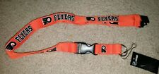 NHL Philadelphia Flyers Orange Breakaway Lanyard Keychain NWT Free Ship