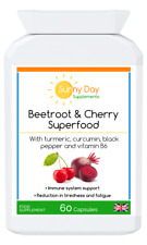 Beetroot & Cherry with Turmeric.For the Reduction of Tiredness and Fatigue. V&V.
