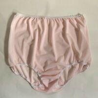 Vintage 1960s Pretty Pink Nylon Tricot Panties w/Double Nylon Gusset