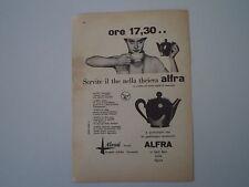 advertising Pubblicità 1958 ALFRA ALESSI - CRUSINALLO