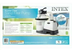 Intex 26643EG Krystal Clear 1200 GPH Above Ground Swimming Pool Sand Filter Pump