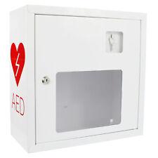SANISMART AED Wandschrank Weiß 37 x 37 x 17 cm mit Notfallzugang