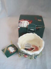 Nib Blue Sky Clayworks Heather Goldminc Christmas Lights Candle Holder w/ Tags