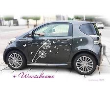 Autoaufkleber Pusteblume Auto Sticker Aufkleber Tuning  Blume Schmeterling  a302