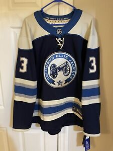 Columbus Blue Jackets Breakaway Alt Jersey Seth Jones Stitched numbers/name Sz L