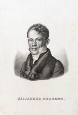 C1830 Neukomm compositore pianista Rio St. Petersburg LITOGRAFIA-RITRATTO